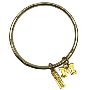 Emerson Street University of Michigan Gold Logo Bracelet