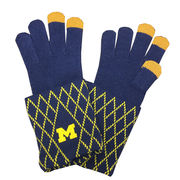 Emerson Street University of Michigan Ladies Knit Gloves