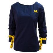Emerson Street University of Michigan Women's Navy Jada Long Sleeve Boatneck Top