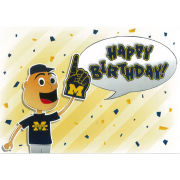 Fanatic Cards University of Michigan Birthday Card