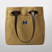 Filson University of Michigan Tan Rugged Twill Open Tote Bag