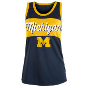 5th & Ocean University of Michigan Women's Navy Polymesh Tank Top
