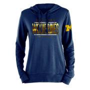 5th & Ocean University of Michigan Women's Gold Metallic Navy Hooded Sweatshirt