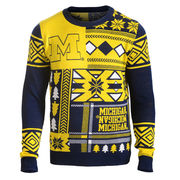 Forever Collectibles University of Michigan Ugly Holiday Sweater