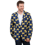 Valiant University of Michigan Multi-Block ''M'' All Over Logo Ugly Business Suit Jacket