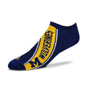 FBF University of Michigan Navy Banner Stripe Footie Socks