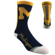 FBF University of Michigan Jump Key Script Crew Socks
