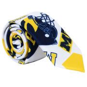 Valiant University of Michigan All-Over Logo Skinny Tie
