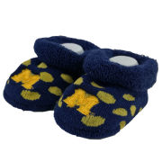 For Bare Feet University of Michigan Infant Navy with Yellow Polka Dot Bootie Socks [2 Pair]