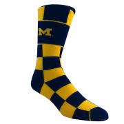 FBF University of Michigan Jumbo Check Crew Socks
