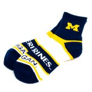 FBF University of Michigan Bar Stripe Crew Socks