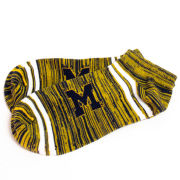 FBF University of Michigan Frame Striped Low-Cut Ankle Socks