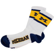 FBF University of Michigan Dual Stripe Crew Socks