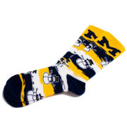 FBF University of Michigan Snowman Wave Crew Socks