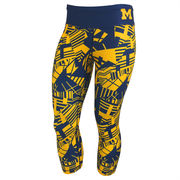 Forever Collectibles University of Michigan Thematic Capri Leggings
