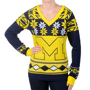 Forever Collectibles University of Michigan Ladies Ugly Holiday Sweater
