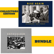 University of Michigan Book: Rise Again and Enthusiasm Unknown to Mankind Bundle by Jim Harbaugh and David Turnley [Collectors Edition]