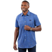 Full Turn University of Michigan Blue Paisley Short Sleeve Sport Shirt