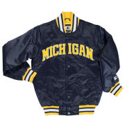 G-III Sports University of Michigan Navy ''MICHIGAN'' Throwback Starter Jacket