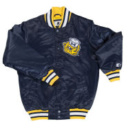 G-III Sports University of Michigan Navy College Vault Wolverine Throwback Starter Jacket