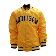 G-III Sports University of Michigan Maize ''MICHIGAN'' Throwback Starter Jacket