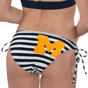 G-III for Her University of Michigan Women's Navy/White ''Strike Out'' Bikini Bottom
