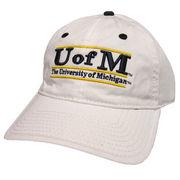 Game University of Michigan White Bar Slouch Hat