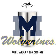 GameTime SideKicks University of Michigan 16oz. Pint Stainless Steel Tumbler