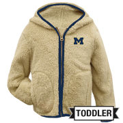 Garb University of Michigan Toddler Sherpa Full Zip Hooded Jacket