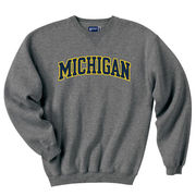 Gear University of Michigan Granite Tackle Twill Crewneck Sweatshirt