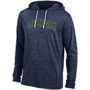 Gear University of Michigan Heather Navy Triblend Hooded Long Sleeve Tee