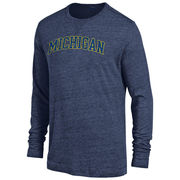 Gear University of Michigan Navy Long Sleeve Triblend Tee