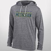 Gear University of Michigan Charcoal Gunsmoke Triblend Hooded Tee