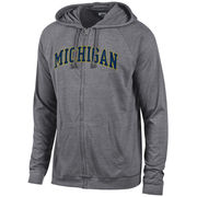 Gear University of Michigan Gunsmoke Triblend Full Zip Hooded Tee