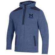 Gear University of Michigan Heather Navy Trek 1/4 Zip Fleece Pullover