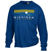 Comfort Wash University of Michigan Ann Arbor City Sights Long Sleeve Tee