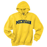 Gear University of Michigan Yellow Tackle Twill Basic Hooded Sweatshirt