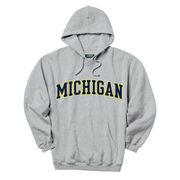 Gear University of Michigan Oxford Gray Tackle Twill Hooded Sweatshirt