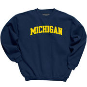 Gear University of Michigan Navy Tackle Twill Crewneck Sweatshirt