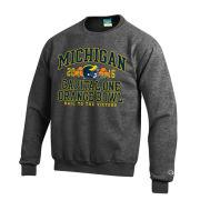 Champion University of Michigan Football Orange Bowl Granite Crewneck Sweatshirt