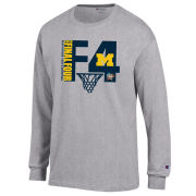 Champion University of Michigan Basketball Final Four Gray Long Sleeve Tee
