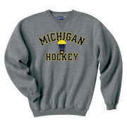Gear University of Michigan Hockey Granite Crewneck Sweatshirt