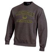 Gear University of Michigan Basketball Granite Crewneck Sweatshirt
