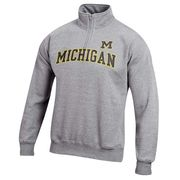 Gear University of Michigan Oxford Gray 1/4 Zip Sweatshirt
