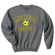 Gear University of Michigan Soccer Granite Crewneck Sweatshirt