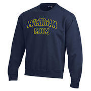 Gear University of Michigan Mom Navy Tackle Twill Crewneck Sweatshirt