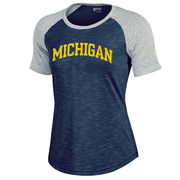 Gear University of Michigan Ladies Barely Baseball Tee