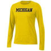 Gear University of Michigan Women's Yellow Long Sleeve Relaxed Tee