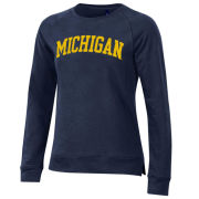 Gear University of Michigan Women's Navy Relaxed Crewneck Sweatshirt