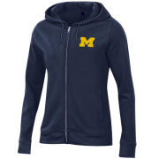 Gear University of Michigan Women's Navy Relaxed Full Zip Hooded Sweatshirt